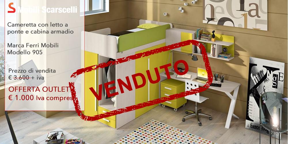 Cameretta con armadio cabina offerta outlet for Armadio offerta outlet