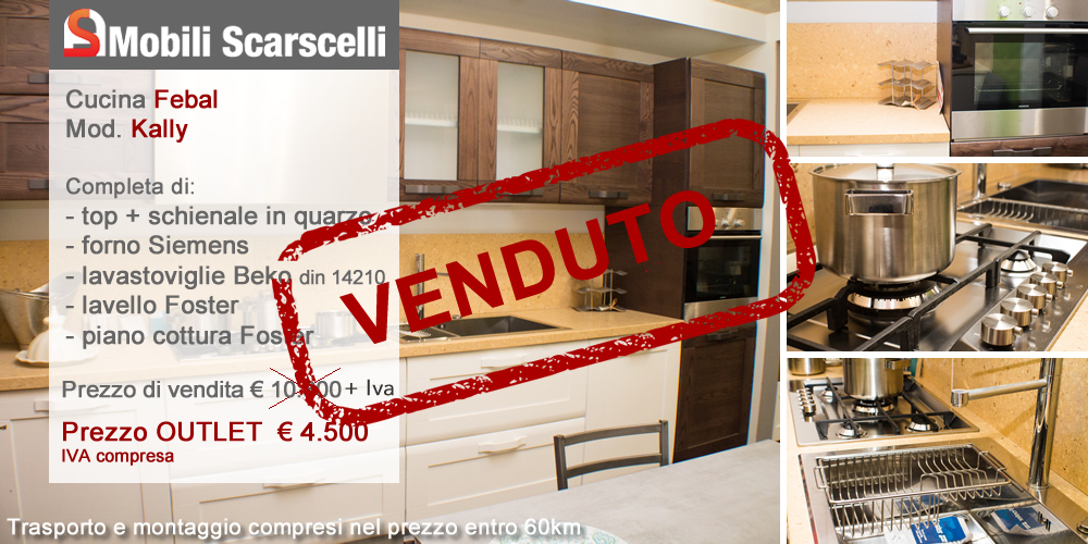 Cucina Febal Mod. Kally Offerta Outlet