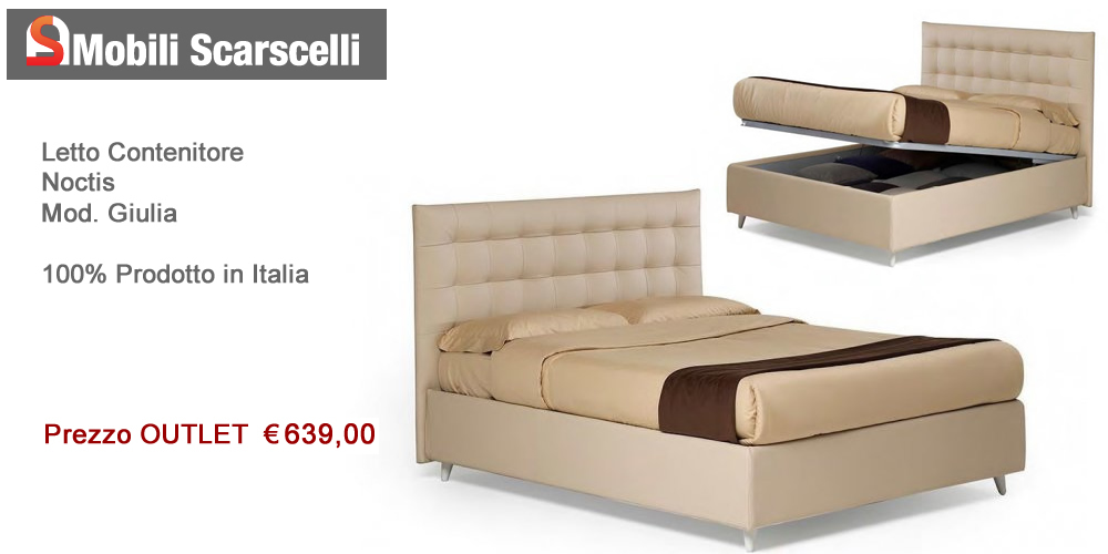 Letto Noctis - Mod. Giulia - Offerta Outlet